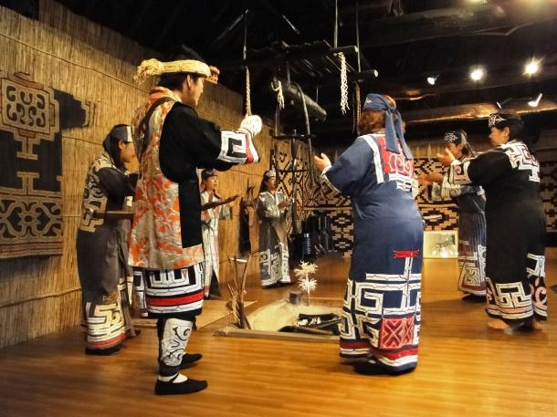 Ainu dancers