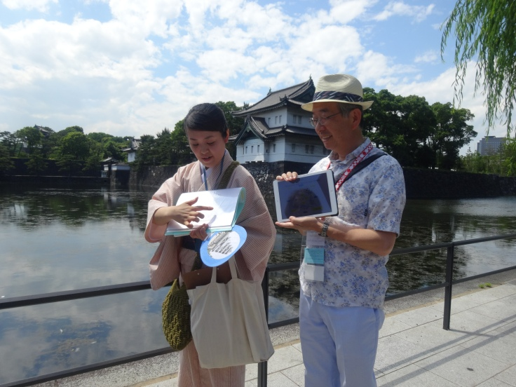Two of our guides outside the Imperial Palace