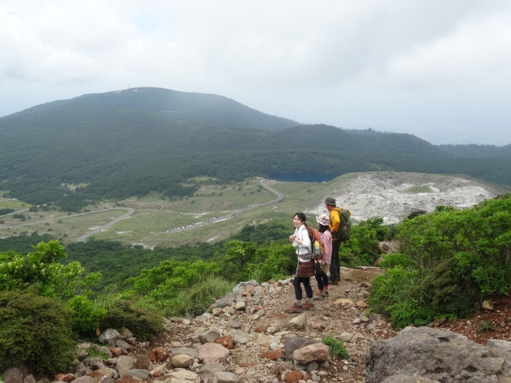 A view from the trail up Mt Karakuni