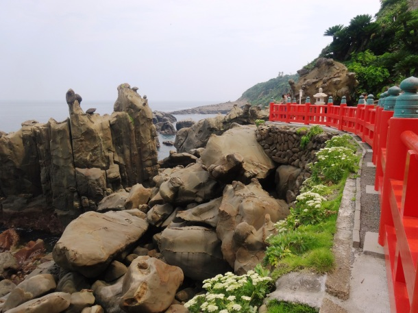 The Miyazaki coast, as seen from the Udo Shrine