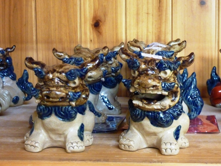 Shisa in Yachimun no Sato Pottery Village