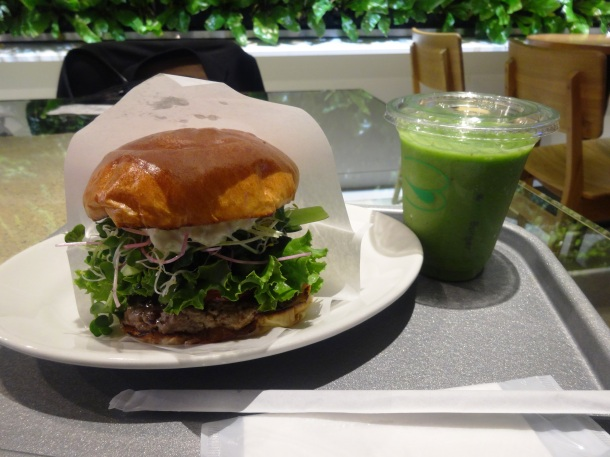 Burger and a smoothie for a bargain price