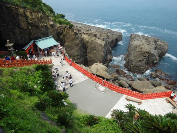 The terrace of Udo Shrine