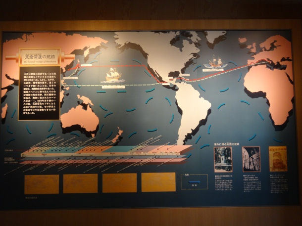 The route the Japanese expedition took to Rome