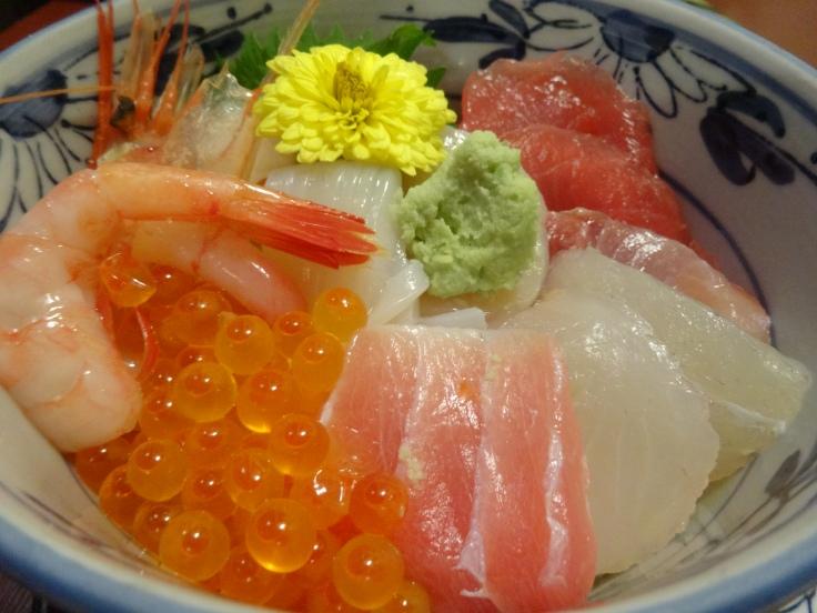 My chirashi sushi bowl