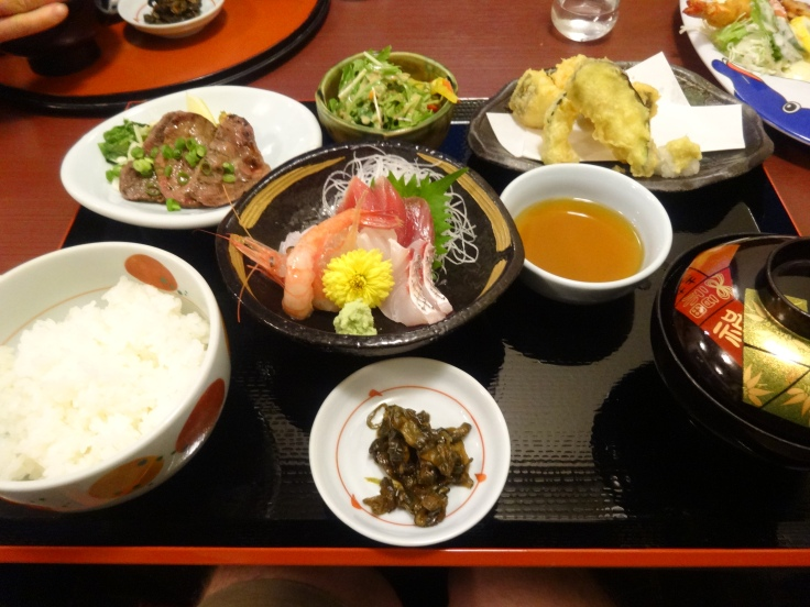 A set meal with gyutan
