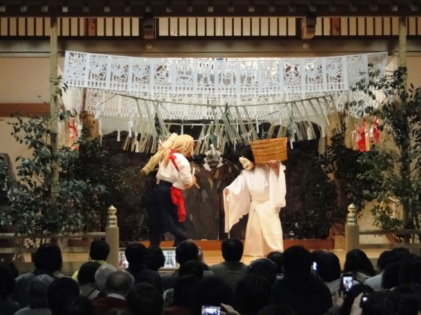 The yokagura dances at Takachiho Shrine