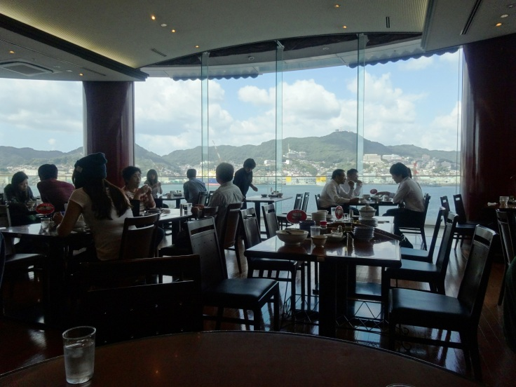 View of Nagasaki Bay from the dining room
