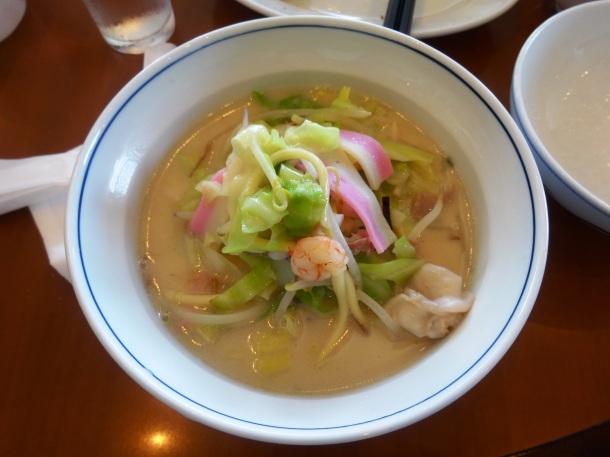 A bowl of champon at Shikairo
