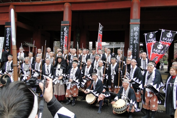 The  47 ronin reenactors