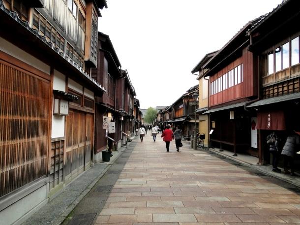 The Higashi Chaya geisha quarter in Kanazawa