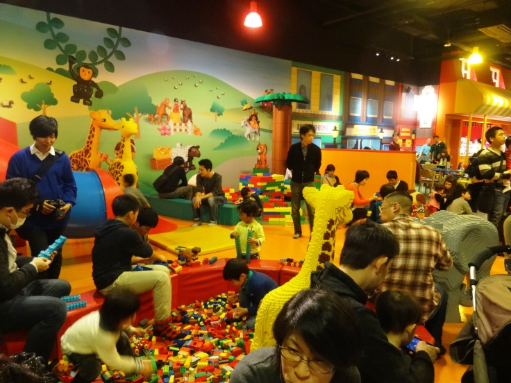 One of the many play areas