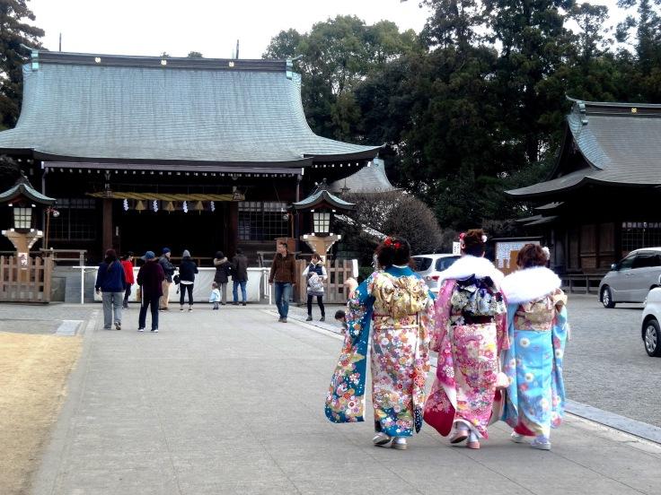 Young girls celebrating Seijin no Hi in Kumamoto