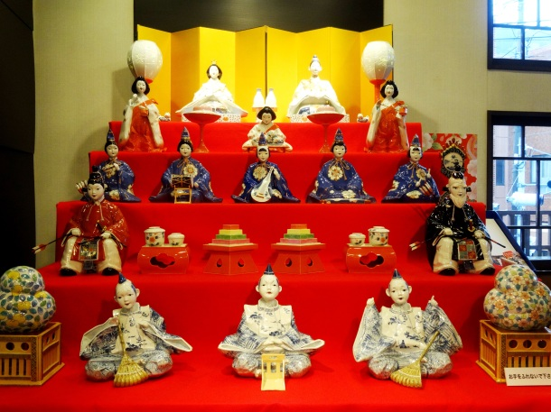 A porcelain Hina doll set in Arita (Saga Prefecture)