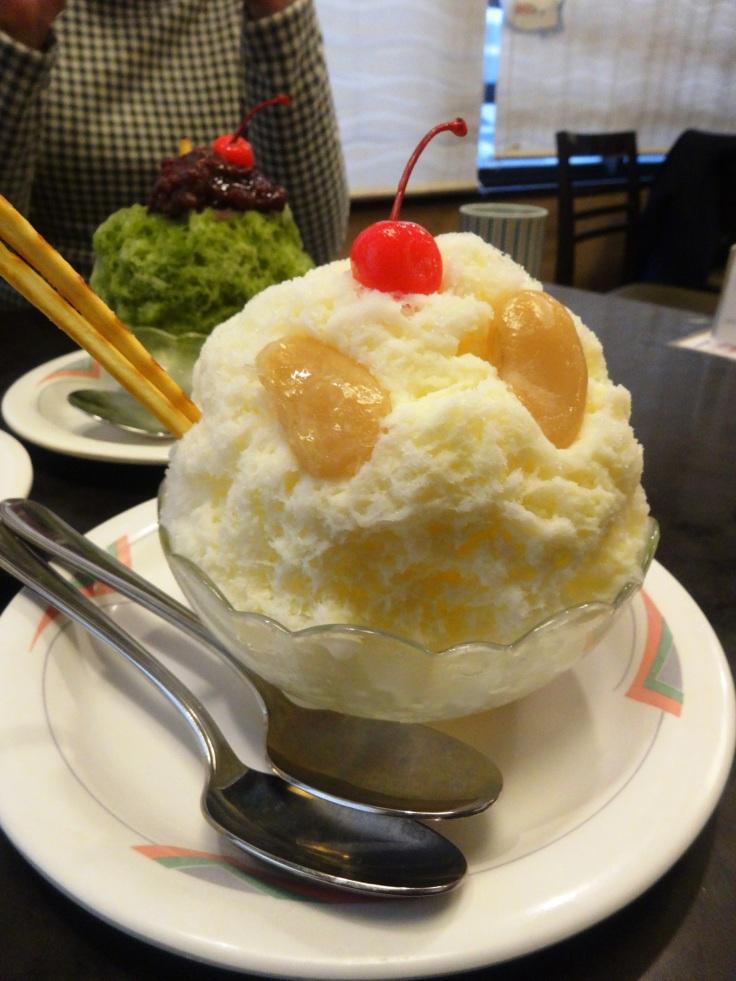 A shirokuma dessert in Kagoshima city