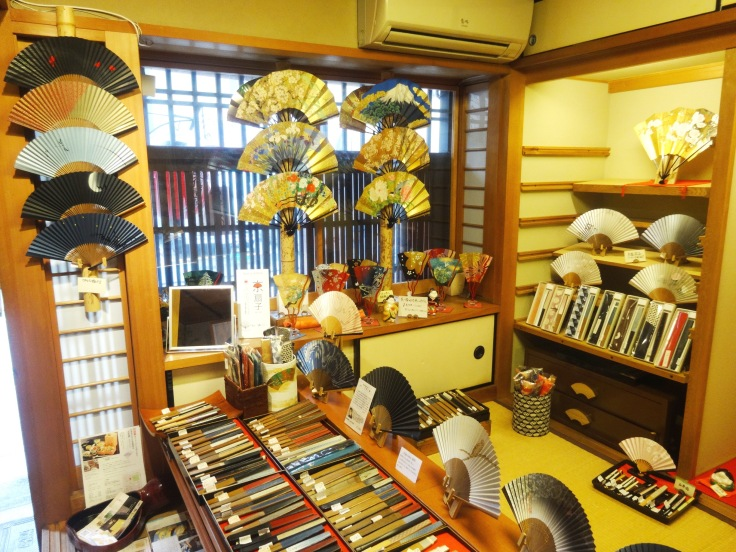 A beautiful display of Hangesho's wares