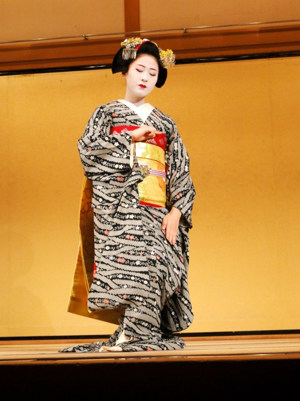 A maiko performs at Gion Corner (NOT in the Miyako Odori)