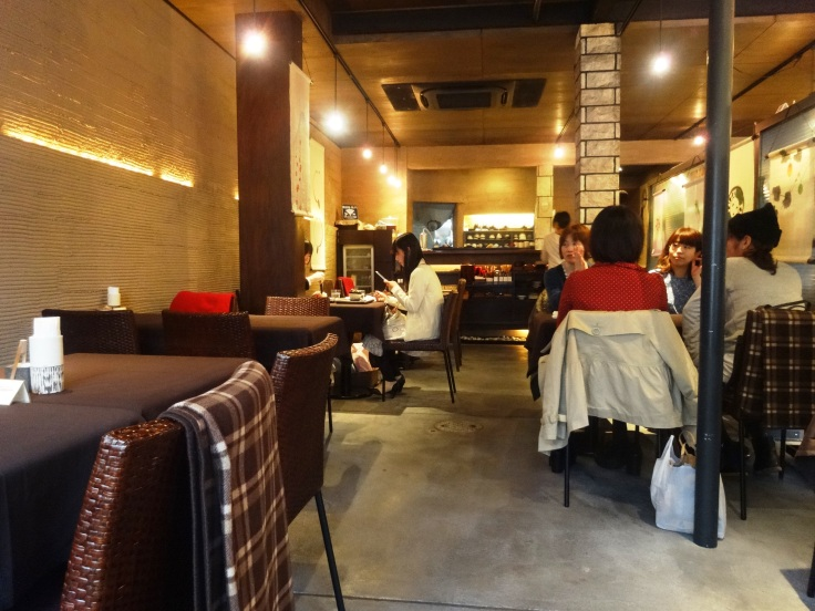 My photo does not do justice to the chic interior of Ten