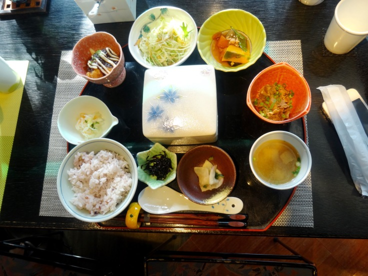 The go-dofu set meal, also delicious