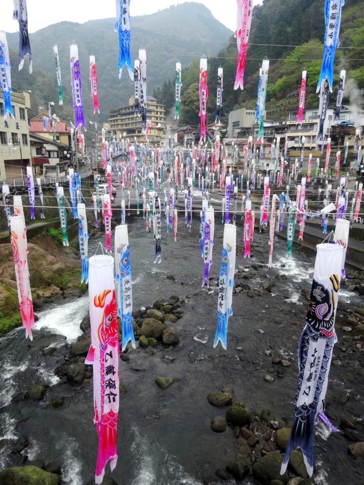 Carp streamers at Tsuetate Onsen