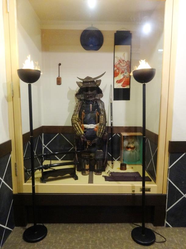 Samurai display for Boy's/Children's day at a Hagi ryokan