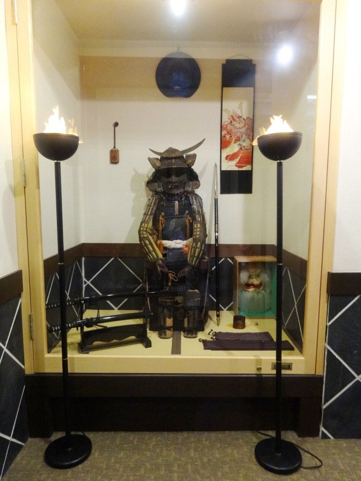 Samurai display for Boy's/Children's day at a Hagi ryokan