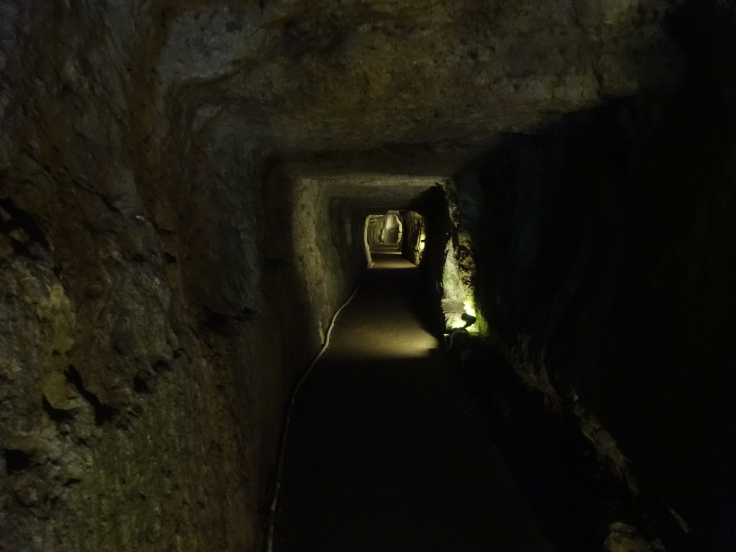 The tunnel of the Ryugenji mine shaft