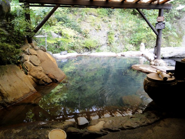 Open-air bath at Kurokawa Onsen