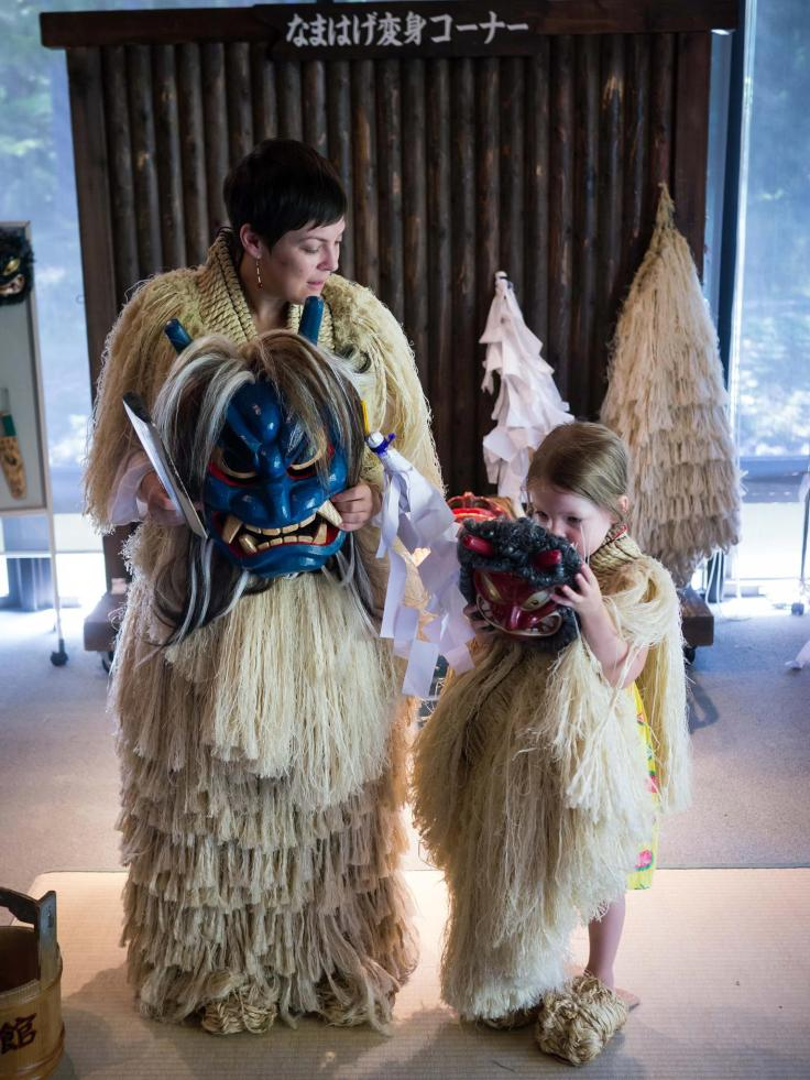 My daughter and I dressed up as namahage (Photo Credit: Where Next Japan)