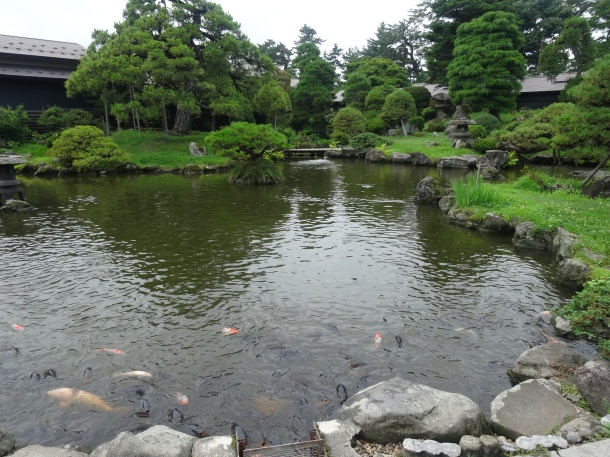 The on-site Japanese garden