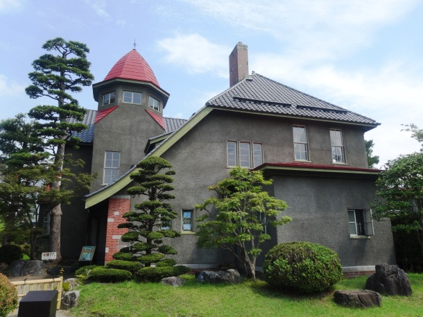 The Western-style house in the upper garden