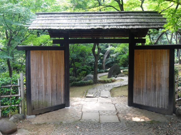 The entrance to the garden at the Kyu Asakura House
