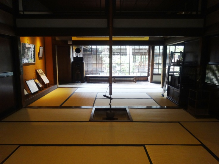 One of the tatami rooms inside the house