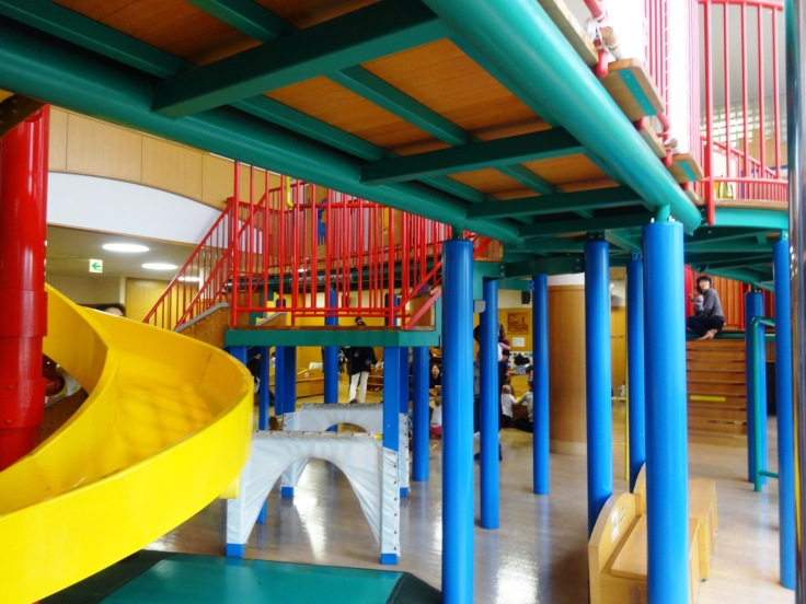 "A shot of the bottom ""layer"" of the indoor playground"
